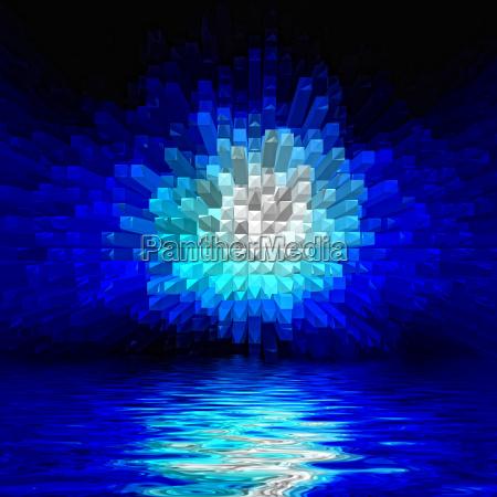 blu liquido illustrazione astratto blocchi astrarre