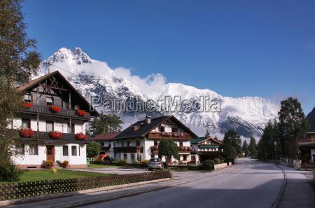 case montagne austria tirolo villaggio neve