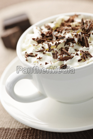 tazza bere caldo panna cacao bevanda