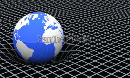 la terra lo spazio tempo