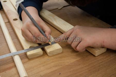 legno misura matita righello preparazione indicare