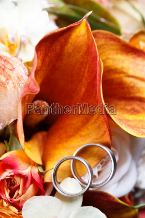 fiore fiori argento anelli due