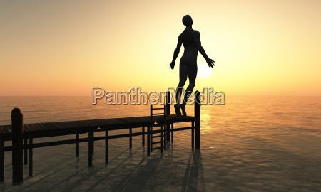 tramonto illuminazione equilibrio risveglio meditazione domani