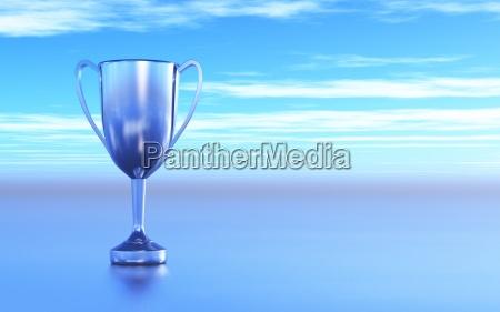 blu argento vincitore coppa coppe premi