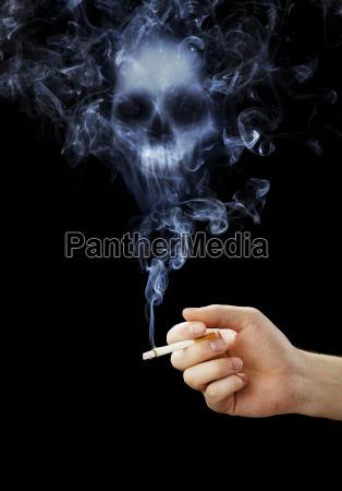 fumo sigaretta salute simbolico morte progettazione