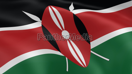 verde kenia nero bandiera onore statale