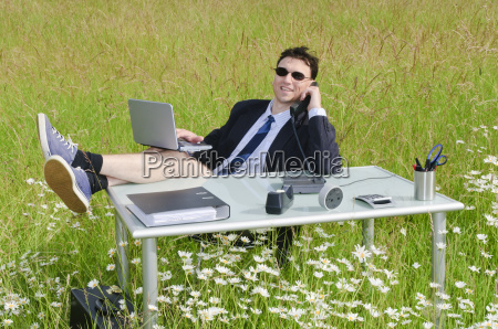 scrivania tempo libero rilassato fuori affare