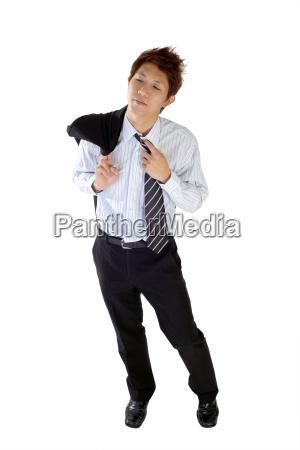 ufficio guardare osservare stanco uomo daffari