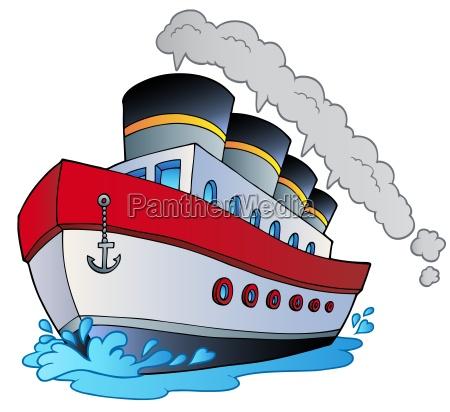 grande nave a vapore dei cartoni