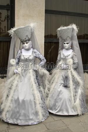 venezia carnevale regina piuma italia maschera