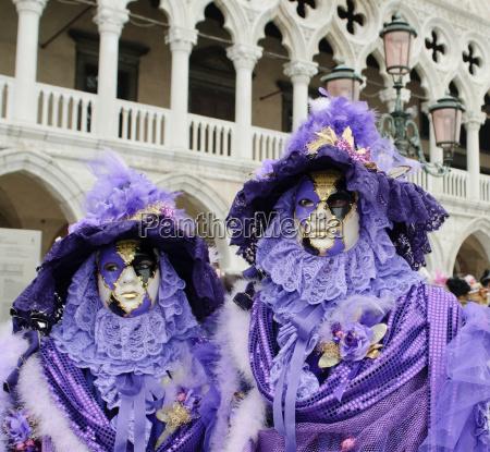 colorato venezia porpora carnevale italia maschera