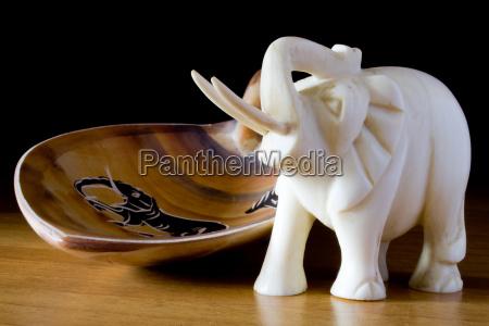 legno africa elefante avorio zanna ornamento