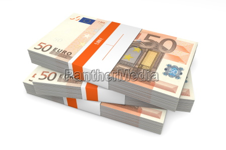 euro pila cartamoneta banconota involucro pacchetto