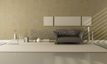 salone marrone e beige