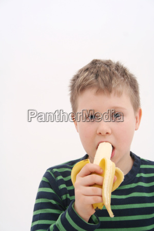 cibo frutta ragazzi banana giovani bambino