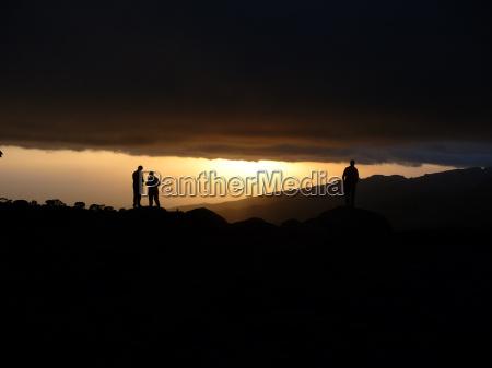 tramonto escursione gita linee atmosfera serale