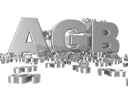 lettere tipografia lucente cromo responsabilita paragrafo