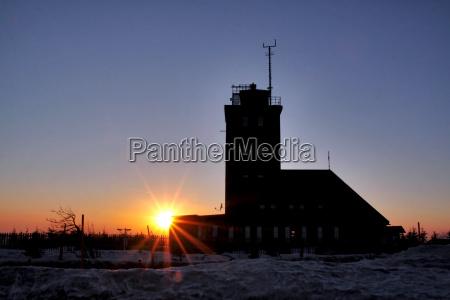 tramonto atmosfera serale sassonia stazione meteo