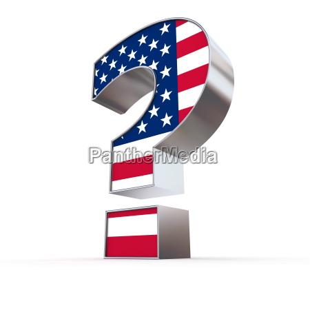 marchio interrogativo degli stati uniti