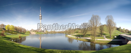 olympiapark, münchen, panorama - 4584876