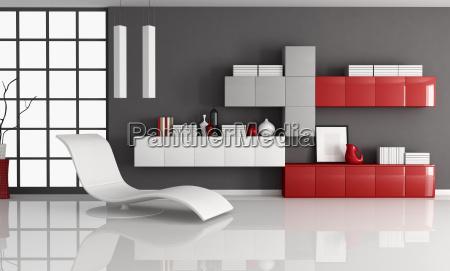 arredamento moderno interno orizzontale tempestivo minimalista