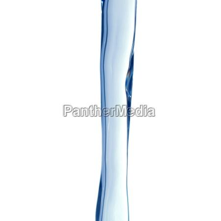 blu rilasciato flusso sopra appartato isolato