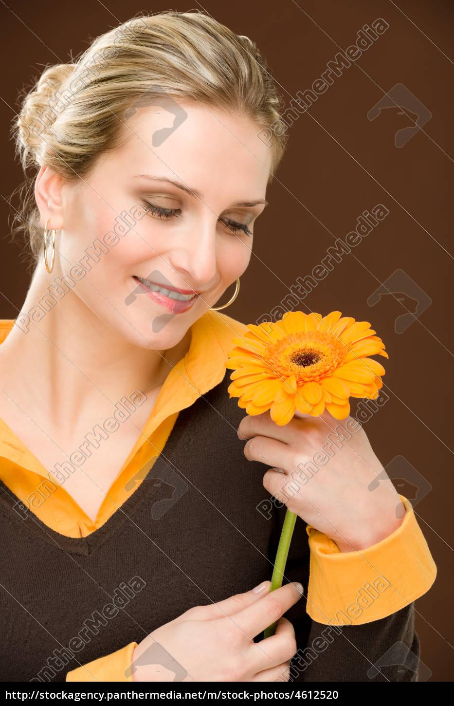 fiore, donna, romantica, tenere, gerbera, margherita - 4612520