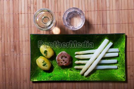 disco verdura asparago filetto carne patata