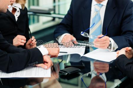commercio riunione con il lavoro