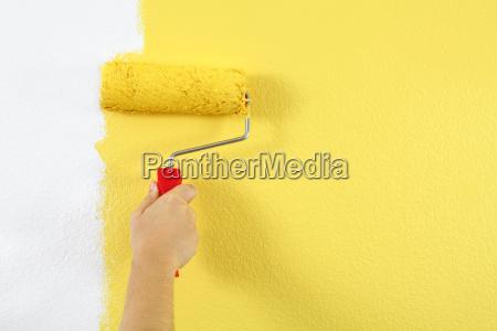 verniciatura della parete