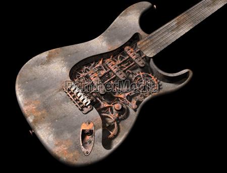chitarra punk a vapore grungy