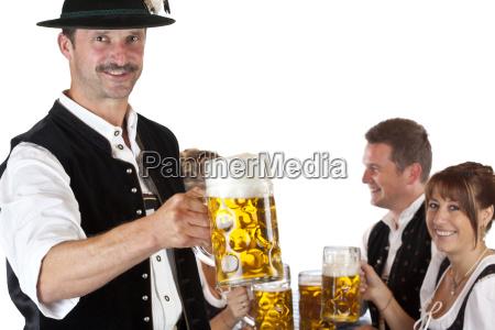 birra octoberfest pantaloni in pelle bavarese