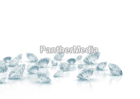 blu diamanti fondale di fondo bianco