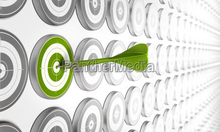 bersaglio verde freccia andgreen