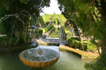 giardino spagna fontana giardini