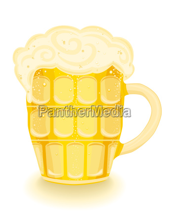 dorato illustrazione birra giallo dorato pinta