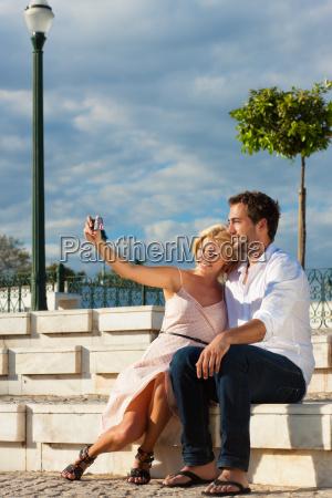 turismo della citta coppia in