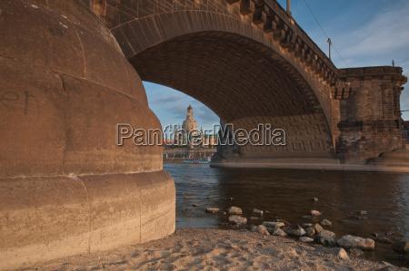 ponte sassonia dresda elba veduta della