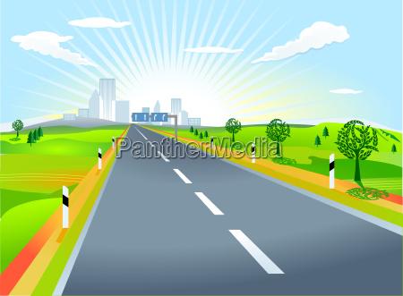 paesaggio con la strada