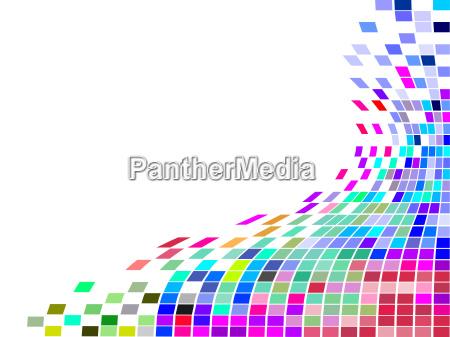 grafico colorato collage astratto piazze mosaici