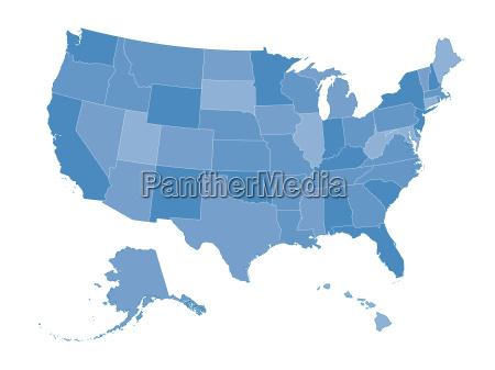 blu grafico stati uniti damerica usa