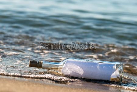 messaggio nel surf
