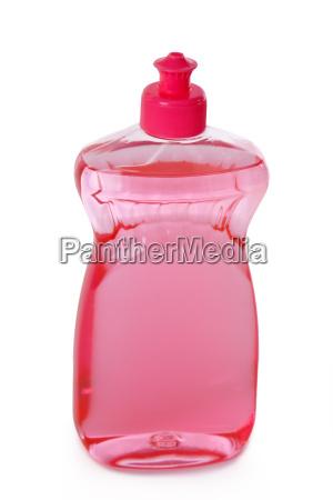liquido di lavaggio liberato su una