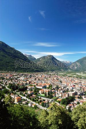 blu citta alpi europa valle alpino