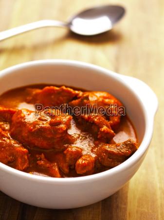 caldo saporito asiatico montone curry castrato