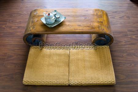 materasso di paglia tradizionale giapponese tavolo