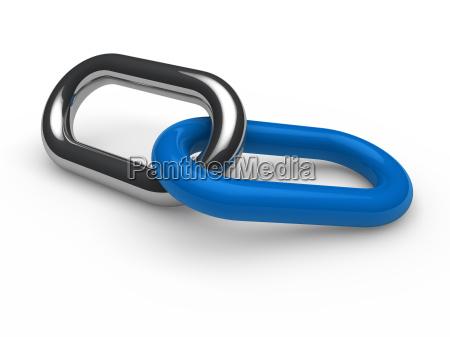 catena cromata blu 3d