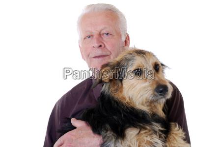 anziano con il cane