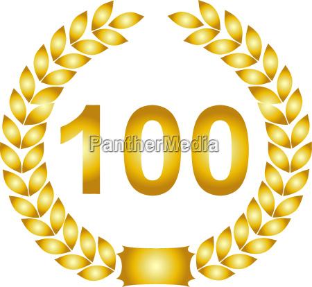 corona dalloro dorata 100 anni