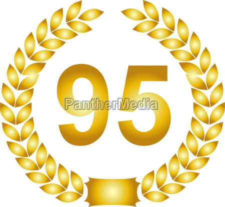 golden laurel wreath 95 years